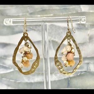 Sterling Silpada Earrings w/Pearl & Quartz Dangles